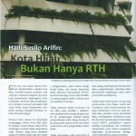 Hadi Susilo Arifin: Green City, it's not just greenery open space only - KIPRAH Vol.40 Page 14