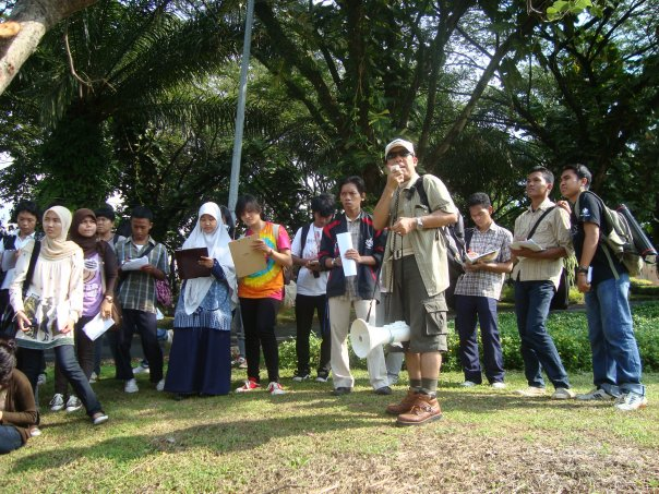 Field lecture in Sentul City - 2009