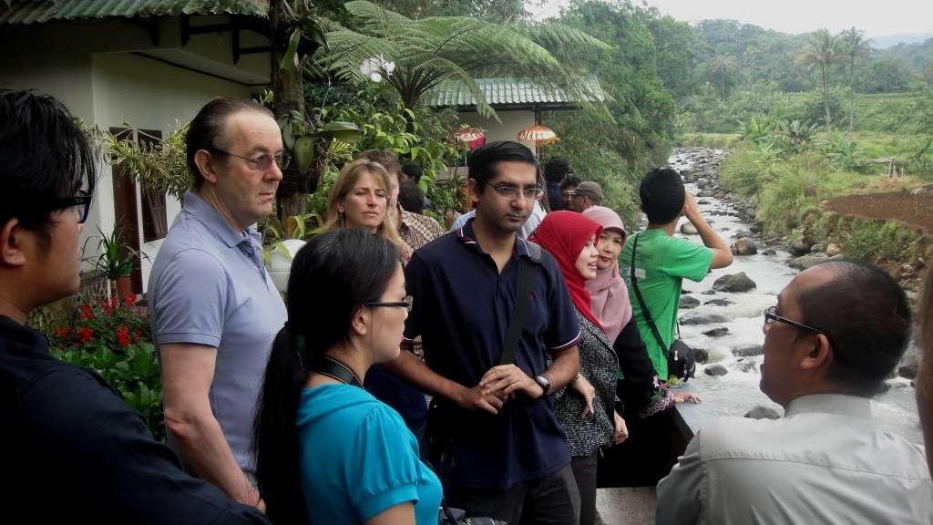 Field discussion about the upper stream of Ciliwung watershed