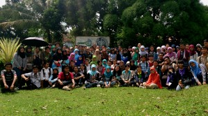 Group pic of counseling students activity in ICDF gate, University Farm of IPB