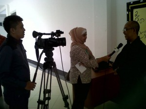 Interviewed by Green TV reporter regarding 2014 Shinnenkai activity.