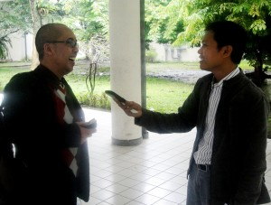 Interviewed by M. Syafiq Syeirozi, reporter of kabar3.com in National Seminar of the 19th IAAS Indonesia National Congress in Bogor. — at Auditorium Andi Hakim Nasution Rektorat IPB.